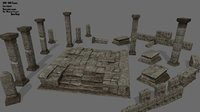 column stairs tomb model