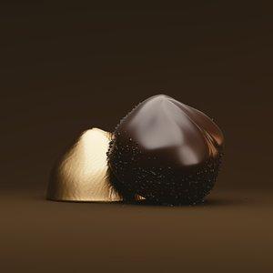 chocolate blender rendered 3D