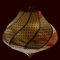 3D crescent lamp moroccan model