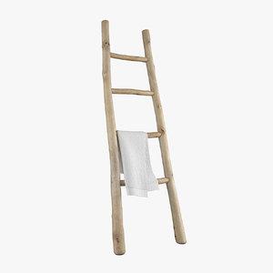 wooden ladder model