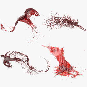 blood splash 3 3D model