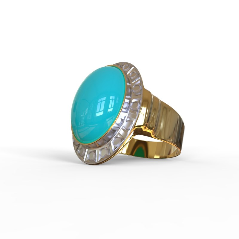 gold ring 3D