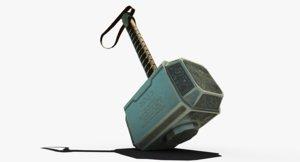 thor hammer mjolnir 3D model