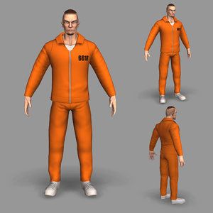 3D model modeled prisoner