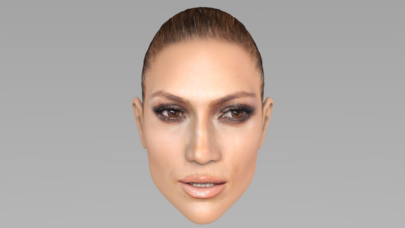 head jennifer lopez 3D model