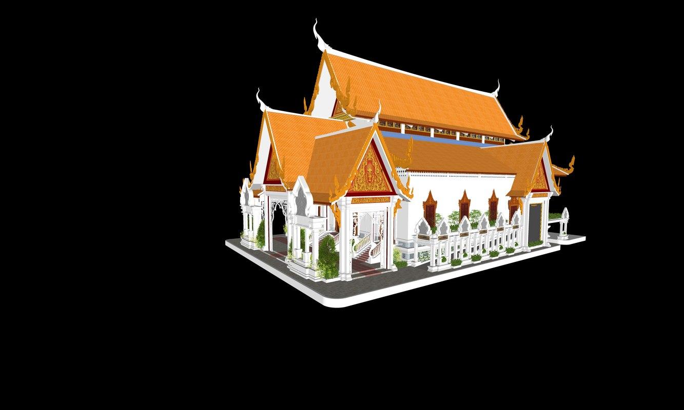 3D traditional pagoda