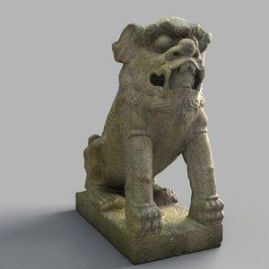 3D lion-statue-011m lion sculpture