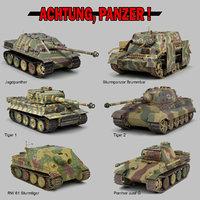 ww2 german military vehicles 3D model