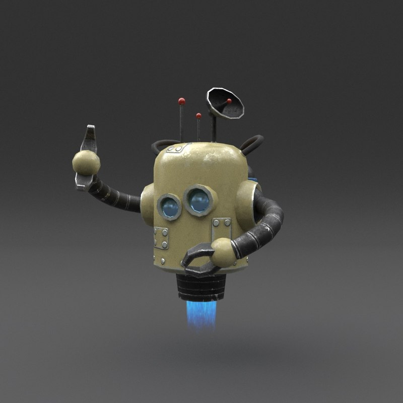 3D robot blender rigged