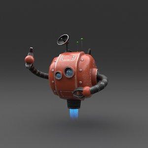 robot blender rigged 3D model