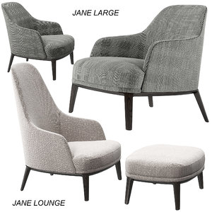 3D poliform jane lounge large model