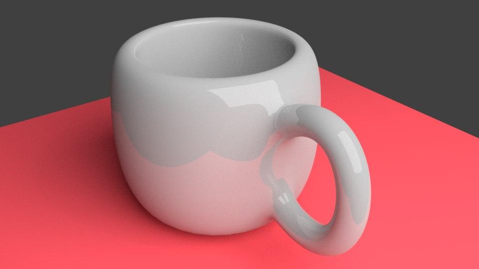 blender coffee cup 3D model