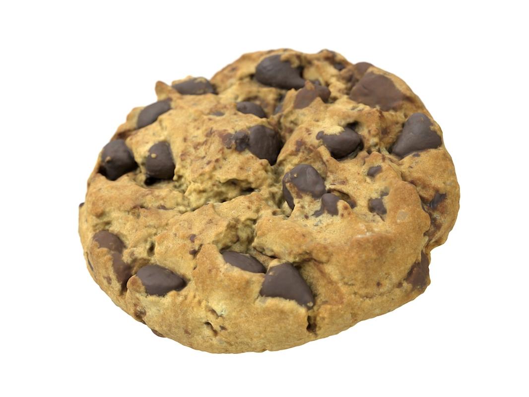 3D model scanned cookie