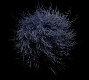 3D model fur ball hair