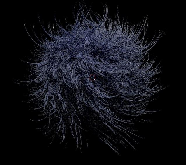 3D model fur ball hair