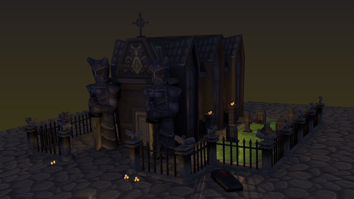 3D model cementery ultra