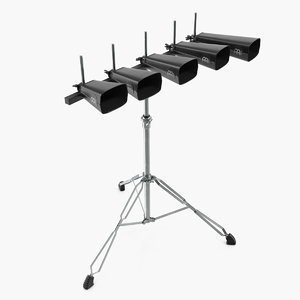 cowbell drum set stand 3D model