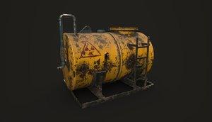 chemical oil tank 3D model