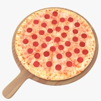 stuffed pizza 3D