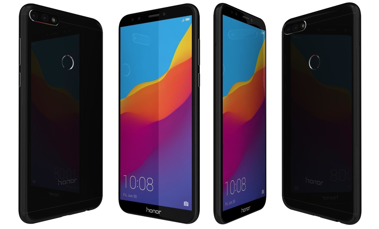 3D model honor 7c black
