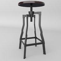 3D barstool chair