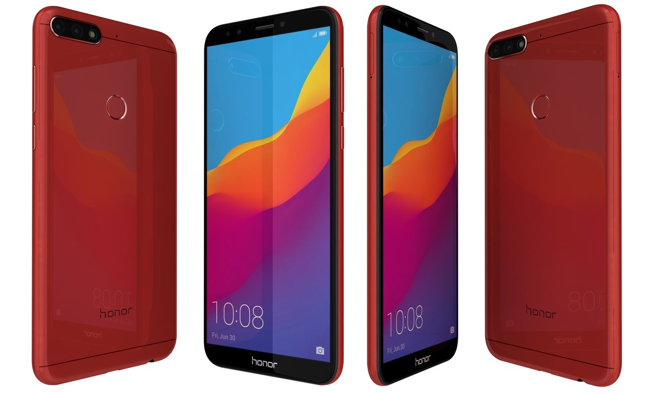3D honor 7c red