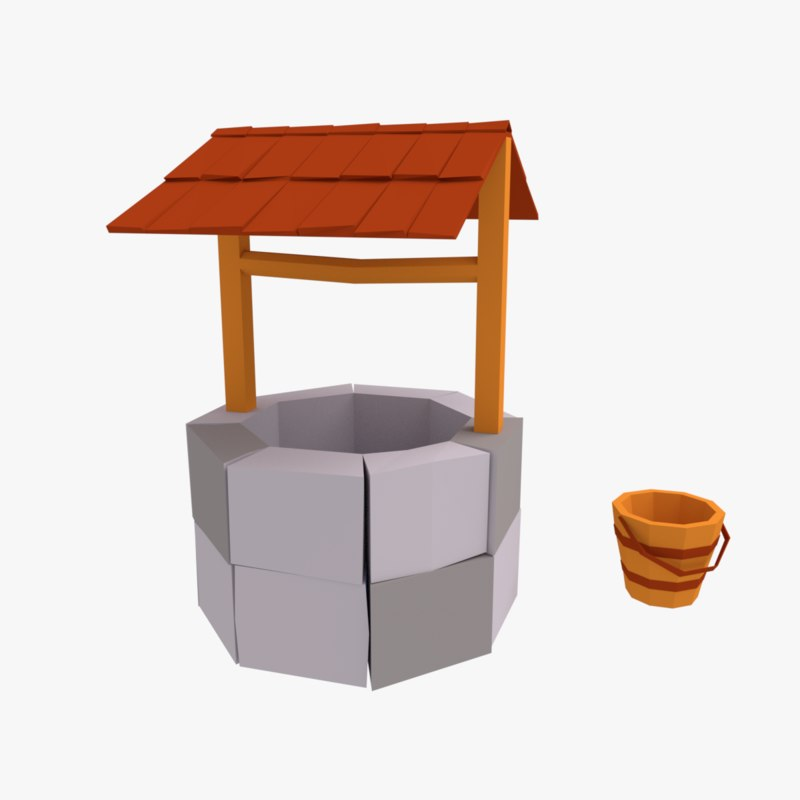 cartoon stone farm 3D model