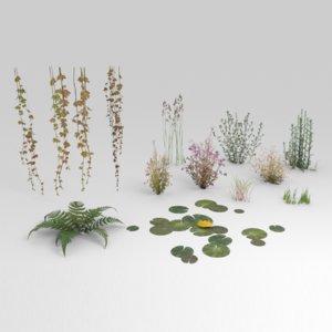 3D low-poly plants model