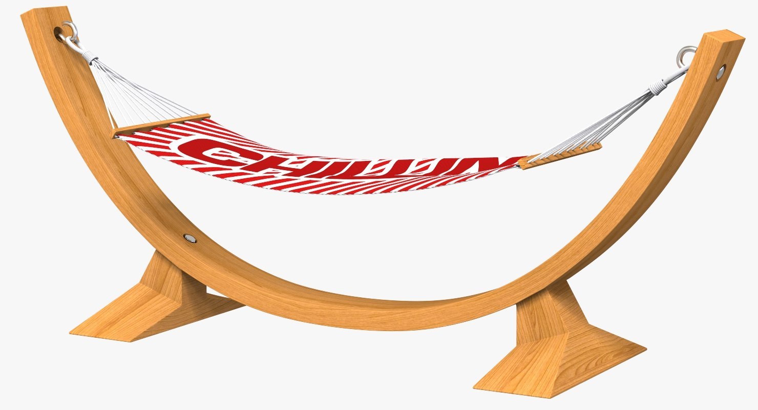 hammock wooden arc frame 3D