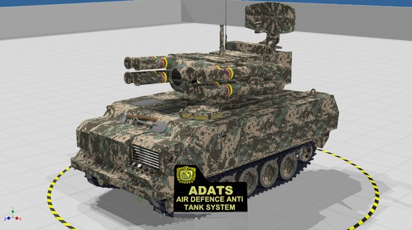 3D air defense anti-tank adats