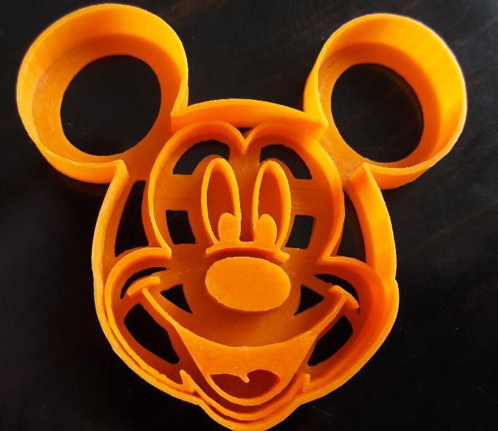 mickey mouse cookie cutter 3D model