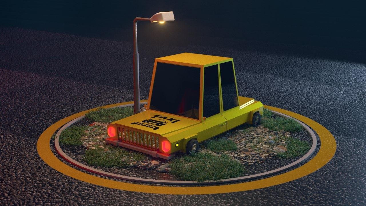 3D car lowpoly