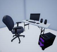 computer set 3D