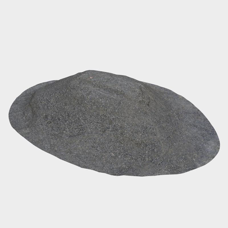 gravel pile 3D model