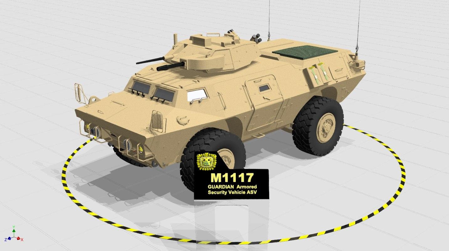 3D model m1117 guardian