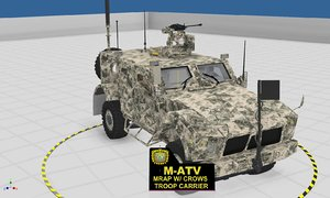 m-atv vehicle ied 3D model