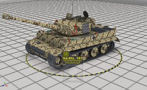 3D sdkfz 181 panzerkampfwagen vi model