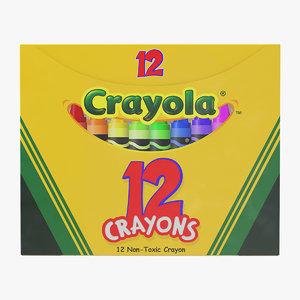 crayons box 12 count model