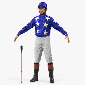 horse jockey 3D model