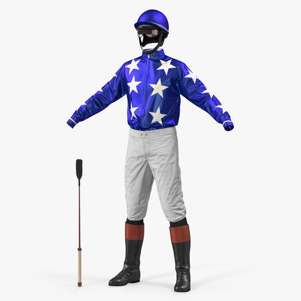 3D horse jockey costume