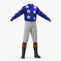 Horse Racing Jockey Costume 3D Model