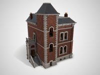 3D victorian house model