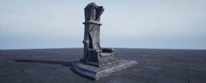 3D model pbr throne