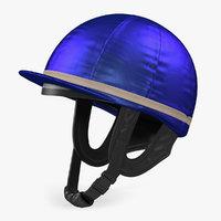 Horse Racing Jockey Helmet 3D Model