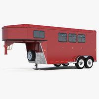 horse trailer generic 3D
