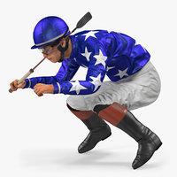 jockey horse 3D model