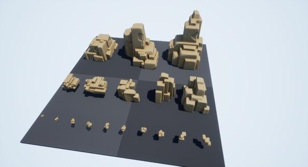 3D pack rocks