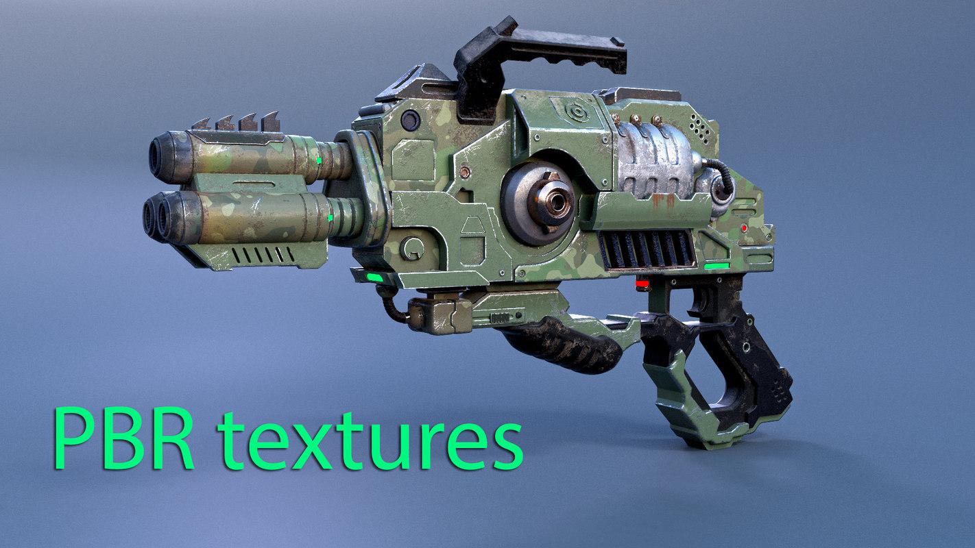 3D alien gun model