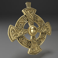 3D cross gold decoration