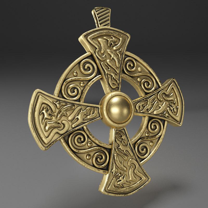 3D cross gold decoration